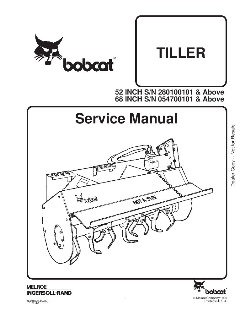 Bobcat Tiller Service Manual 8 99 Pdf Download Service Manual Repair Manual Pdf Download Manual Repair Manuals Repair And Maintenance