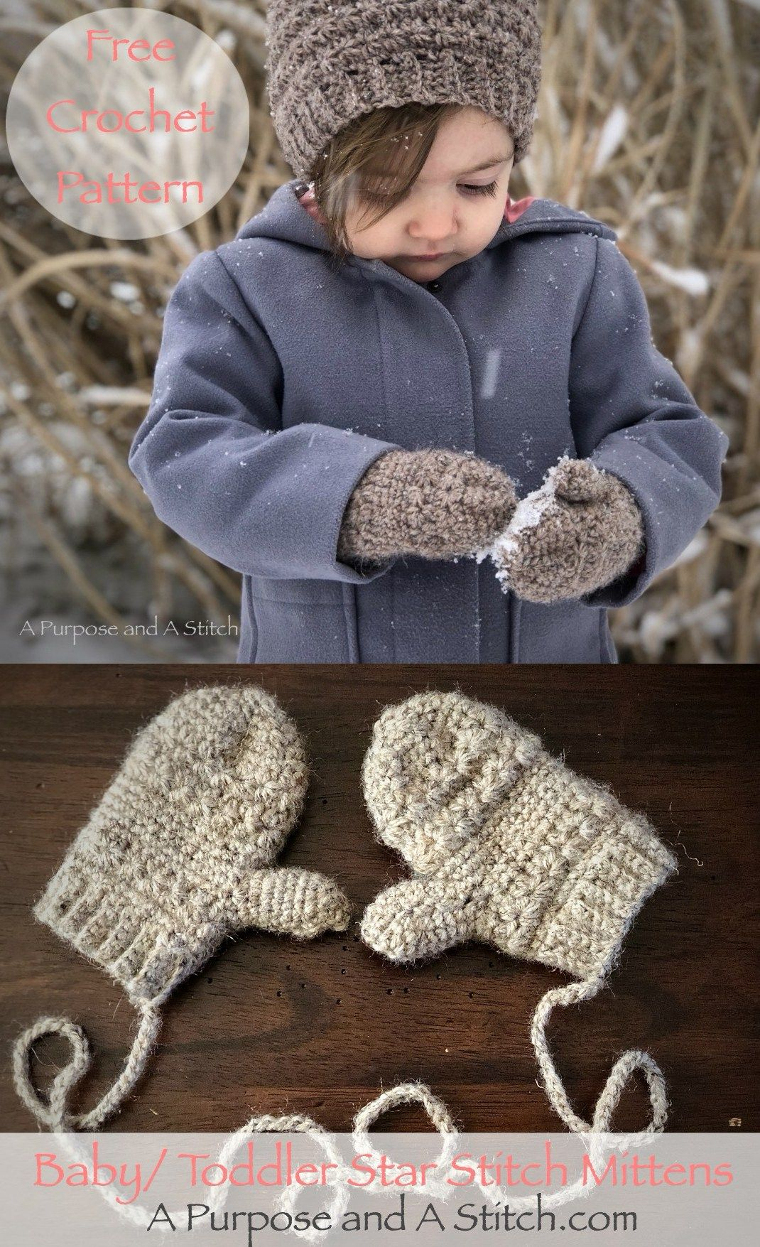 Baby/Toddler Star Mittens- Free Pattern | knit and crochet ideas ...