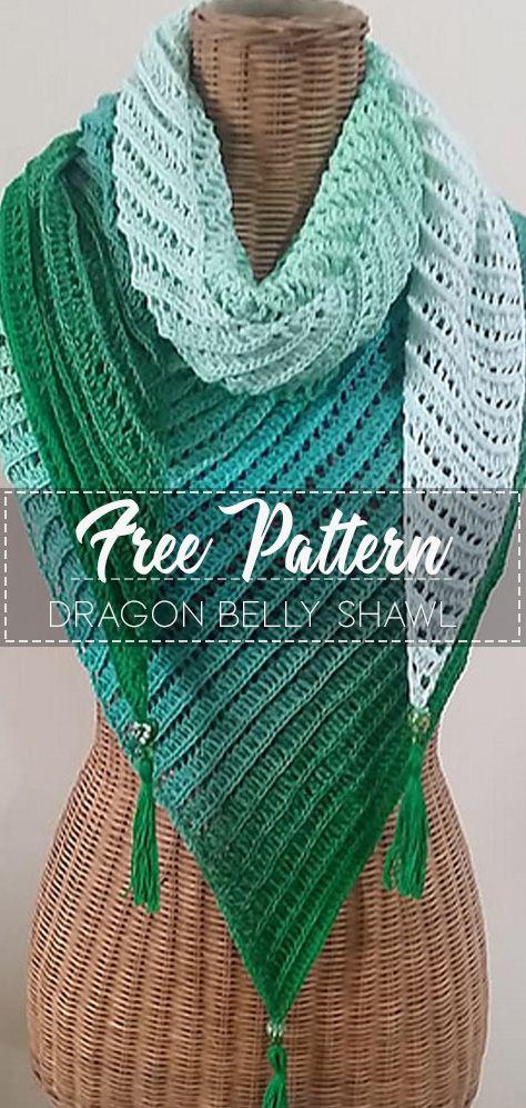DRAGON BELLY SHAWL [CROCHET FREE PATTERNS] #SHAWL # ...