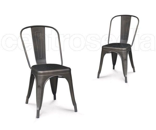 Sedie Industriali ~ Virginia sedia metallo old style sedie vintage e industriali