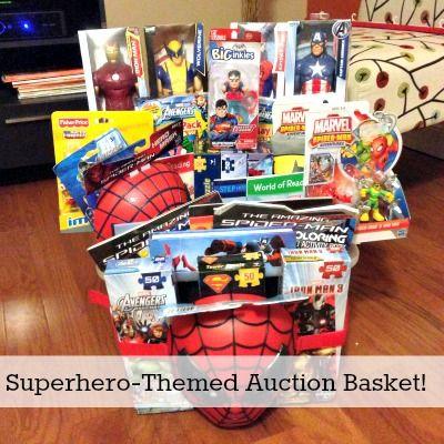 Superhero auction raffle gift diy basket nonprofit auction item superhero auction raffle gift diy basket negle Images