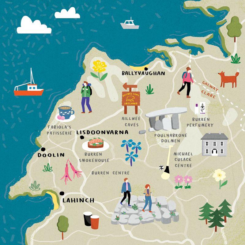 Fuchsia Macaree Fuchsia Macaree Map Of The Burren For Cara