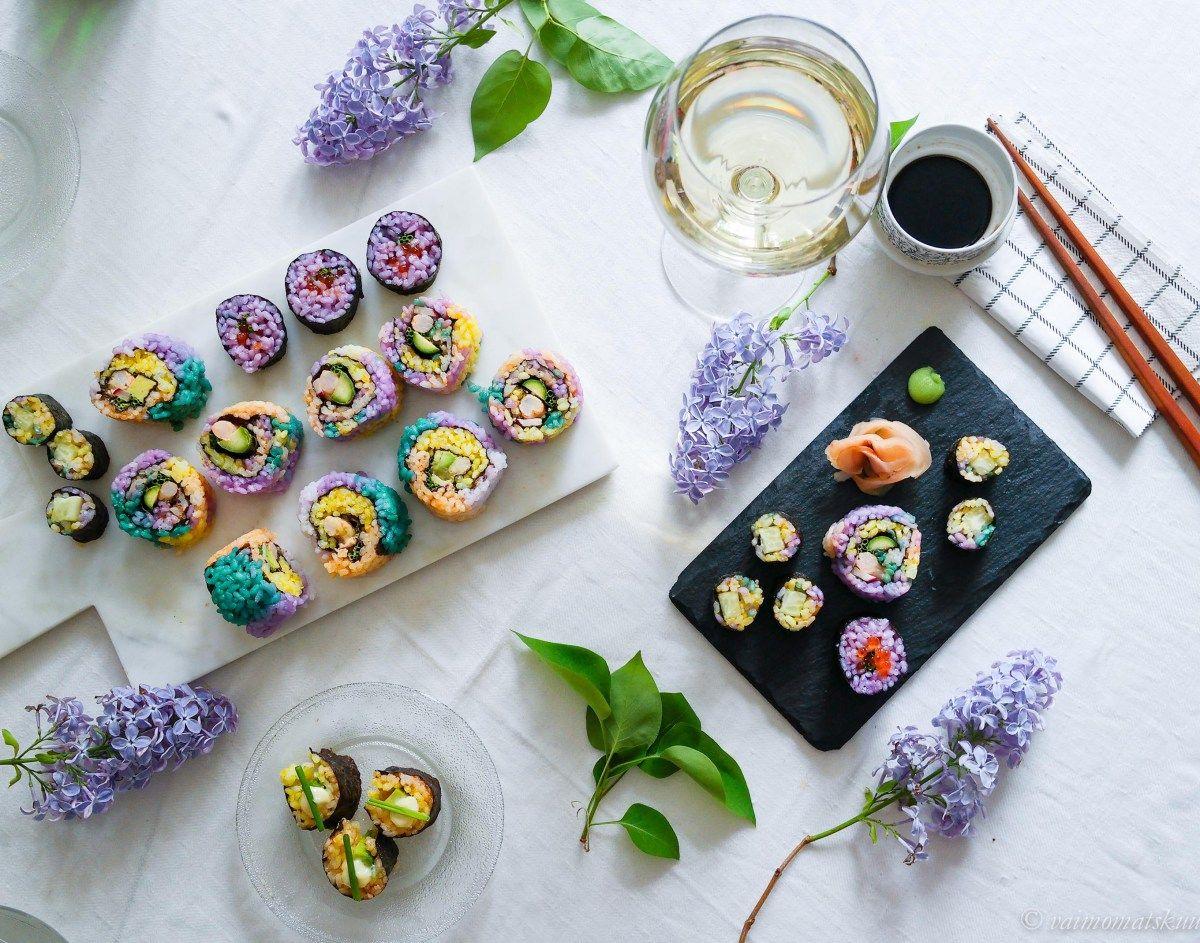 Sateenkaarisushi (rainbow sushi)