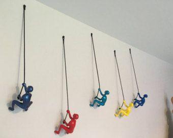 7 Piece Climbing Sculpture Wall Art Gift For Home Decor Wall Sculpture Art Wall Art Gift Art Gift