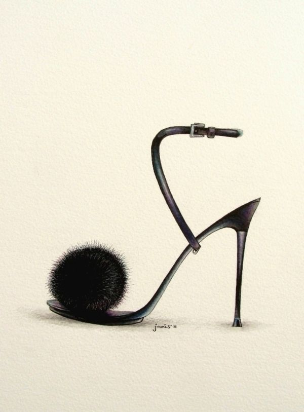 SHOE ILLUSTRATION :: Fancy Shoes - by Janis Viktoriia, via Behance