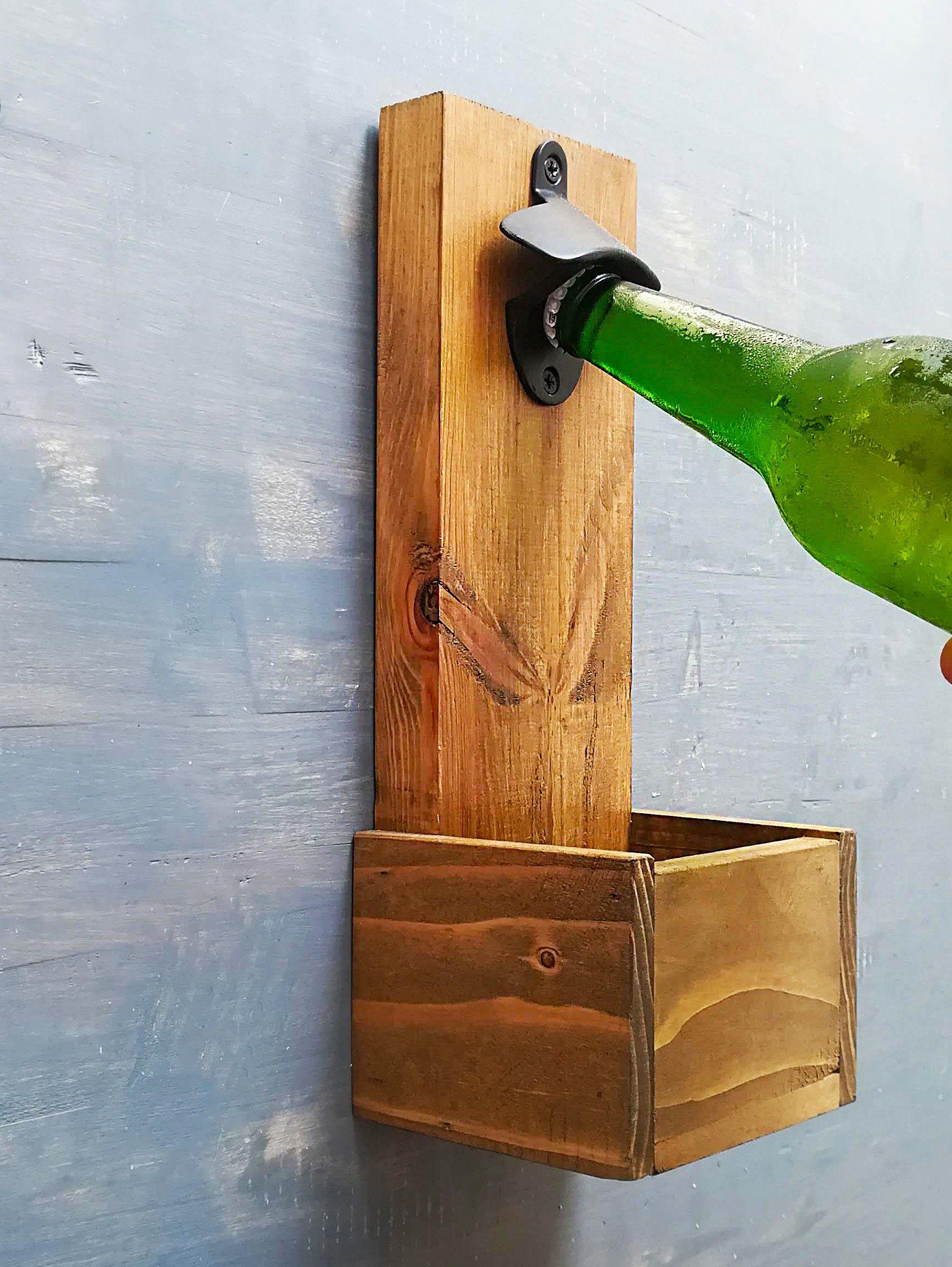 Wooden Beer Opener Etsy