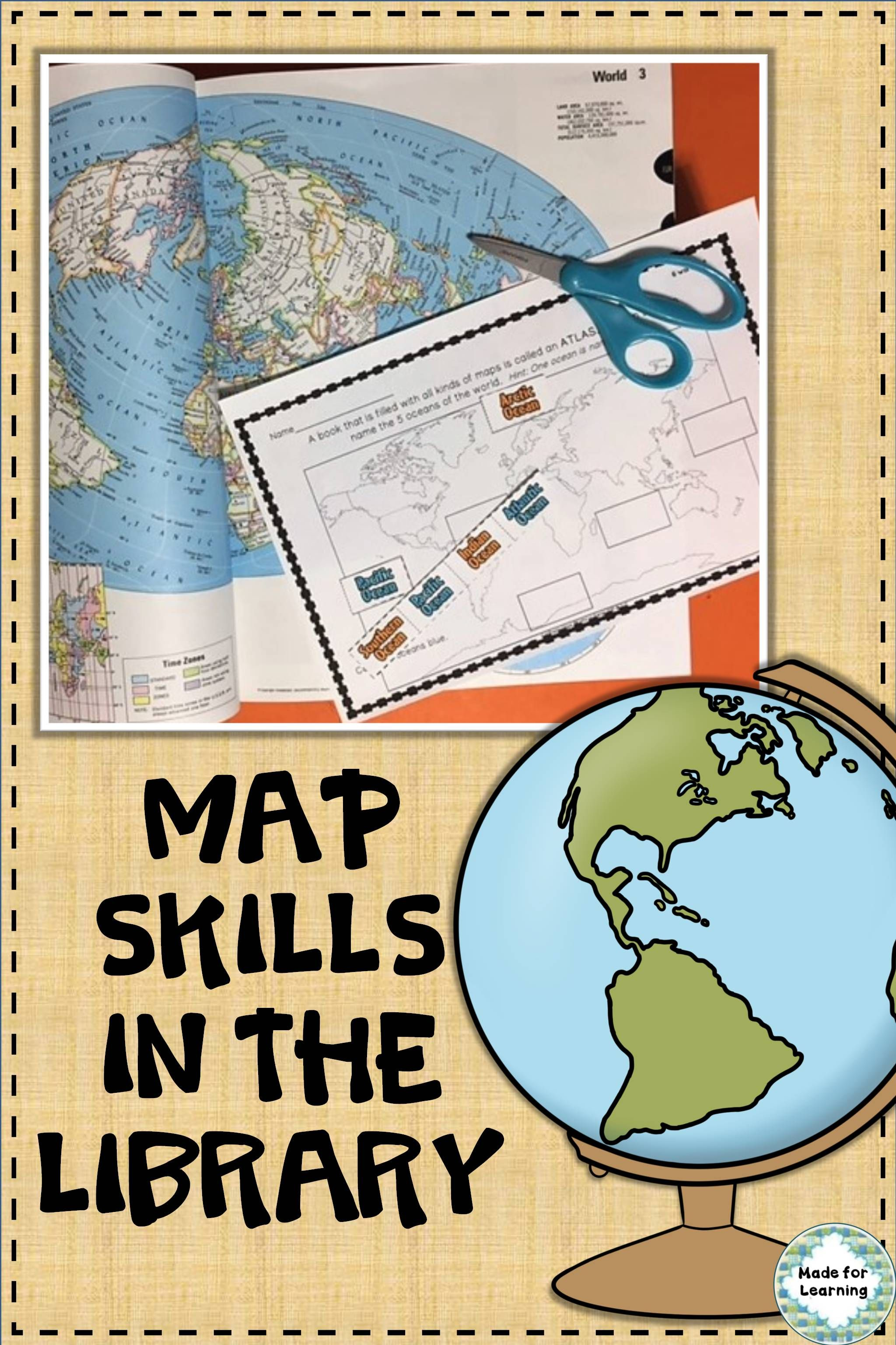Map Skills Printable Worksheets For Library Distance