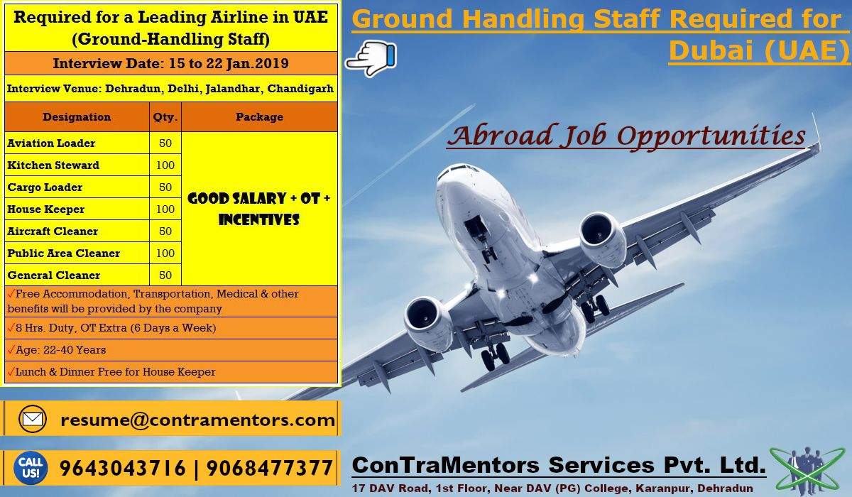 Groundhandling Staff Required for a Leading Airline