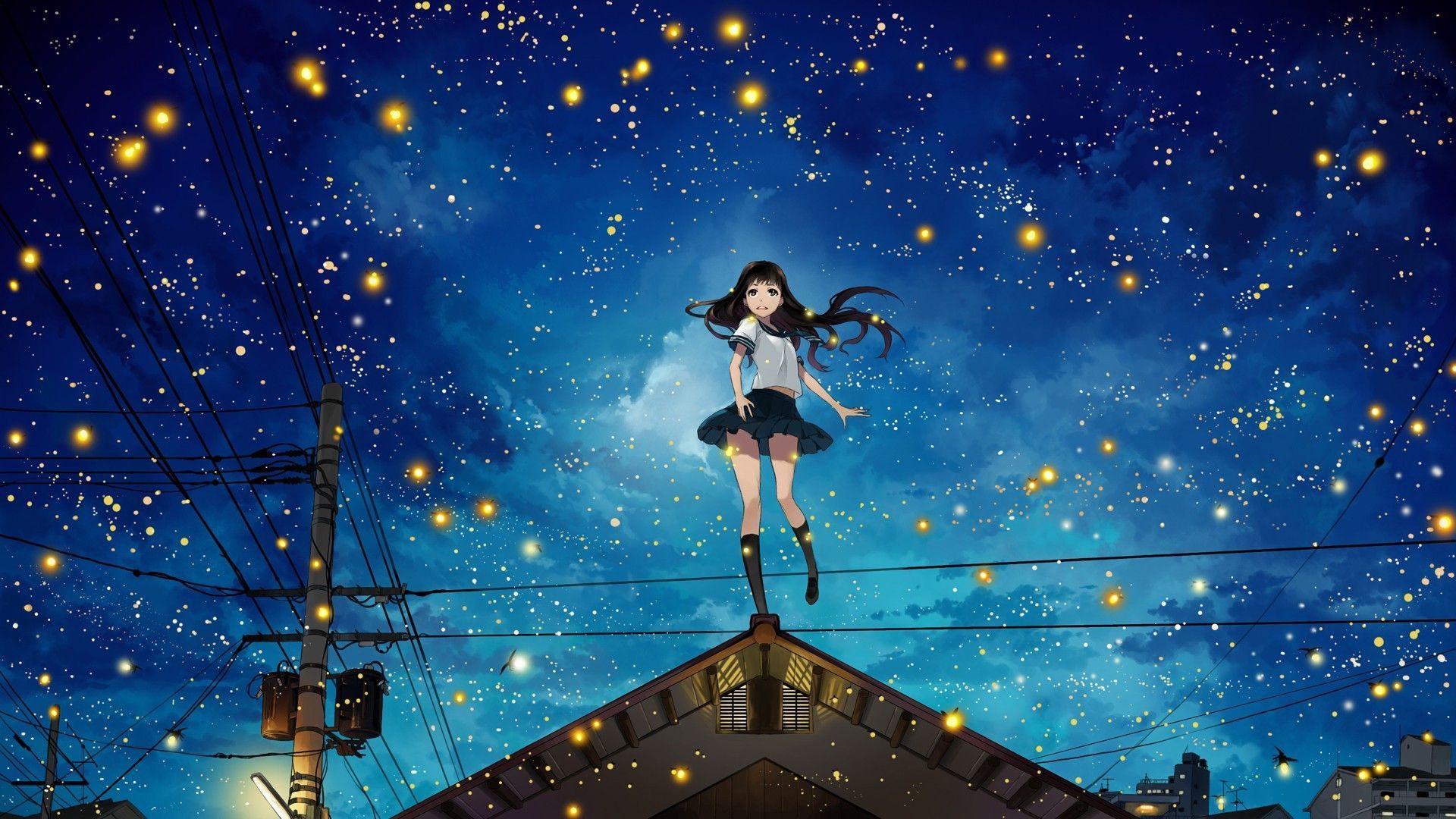 Pin de Starry_Sky em Wallpaper Notebook Cenário anime