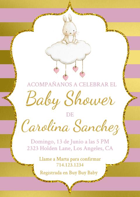 Baby Shower Invitations En Espanol : shower, invitations, espanol, Spanish, Shower,, Español, Niña, Invitación,, Shower, Template,, Cone…, Invitations, Prizes