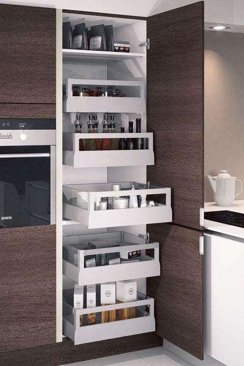 Une cuisine maxi rangements | Rangement, Cuisines et Cotemaison fr