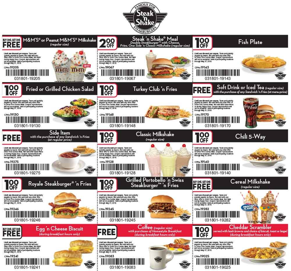 Steak n Shake 🆓 Coupons & Shopping Deals! Steak n shake