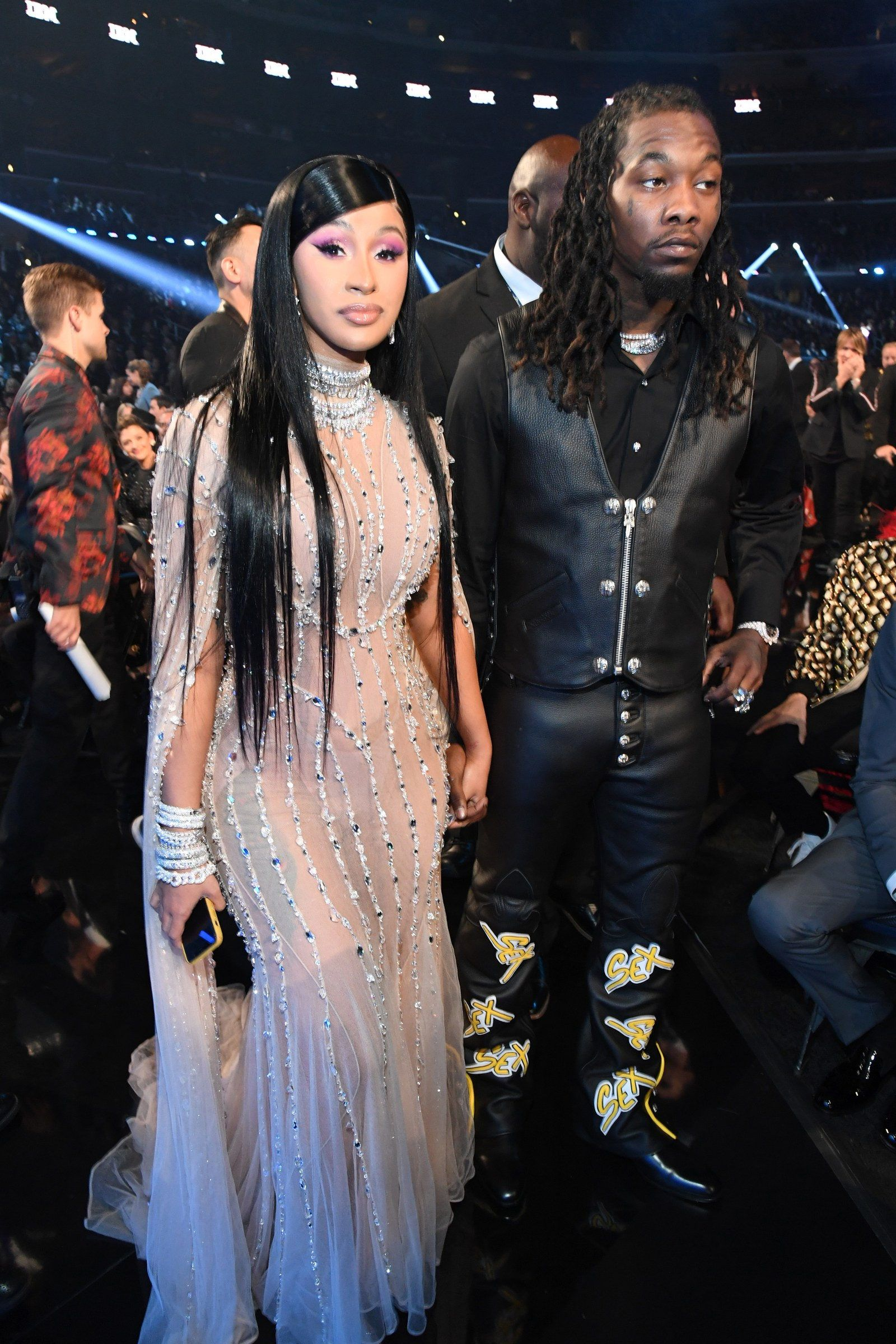 The Best Dressed Celebrities At The 2020 Grammys In 2020 Cardi B Photos Nice Dresses B Fashion