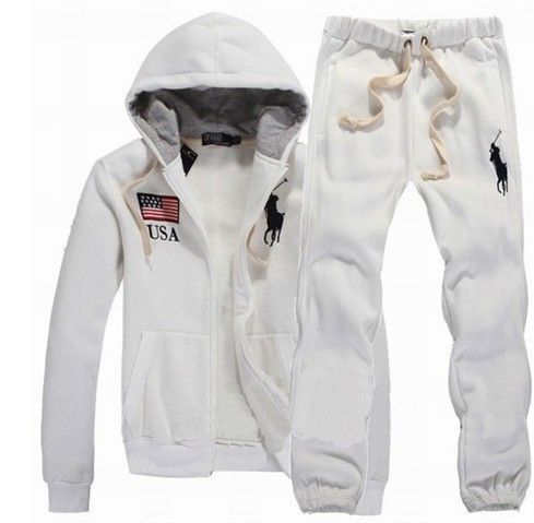 231c8f51c6a usa flag white polo sweat suit for men