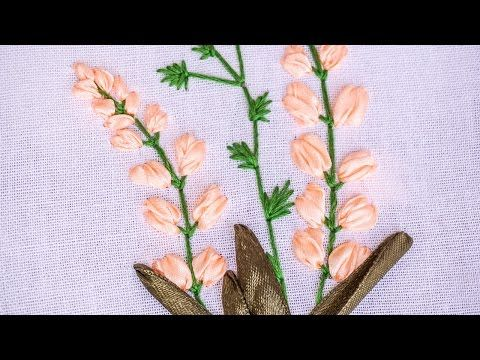 Hand Embroidery Flower Pattern With Ribbon Cotton Floss Threads