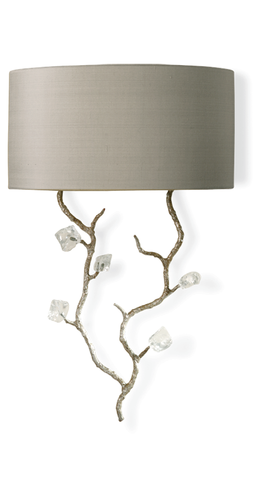 Luxury Designer Crystal & Silver Blossom Wall Light / Sconce,  sharing luxury designer home decor inspirations