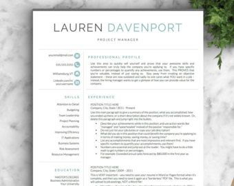 doctor resume template for word pages by landeddesignstudio - Doctor Resume Template