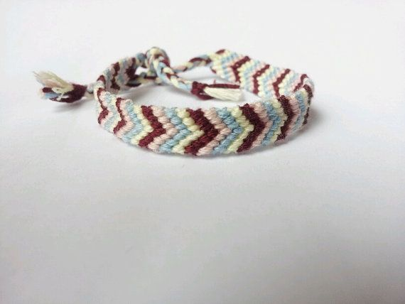 Chevron Bracelet  Maroon and Blue by beausbitsandbobs on Etsy, £4.30