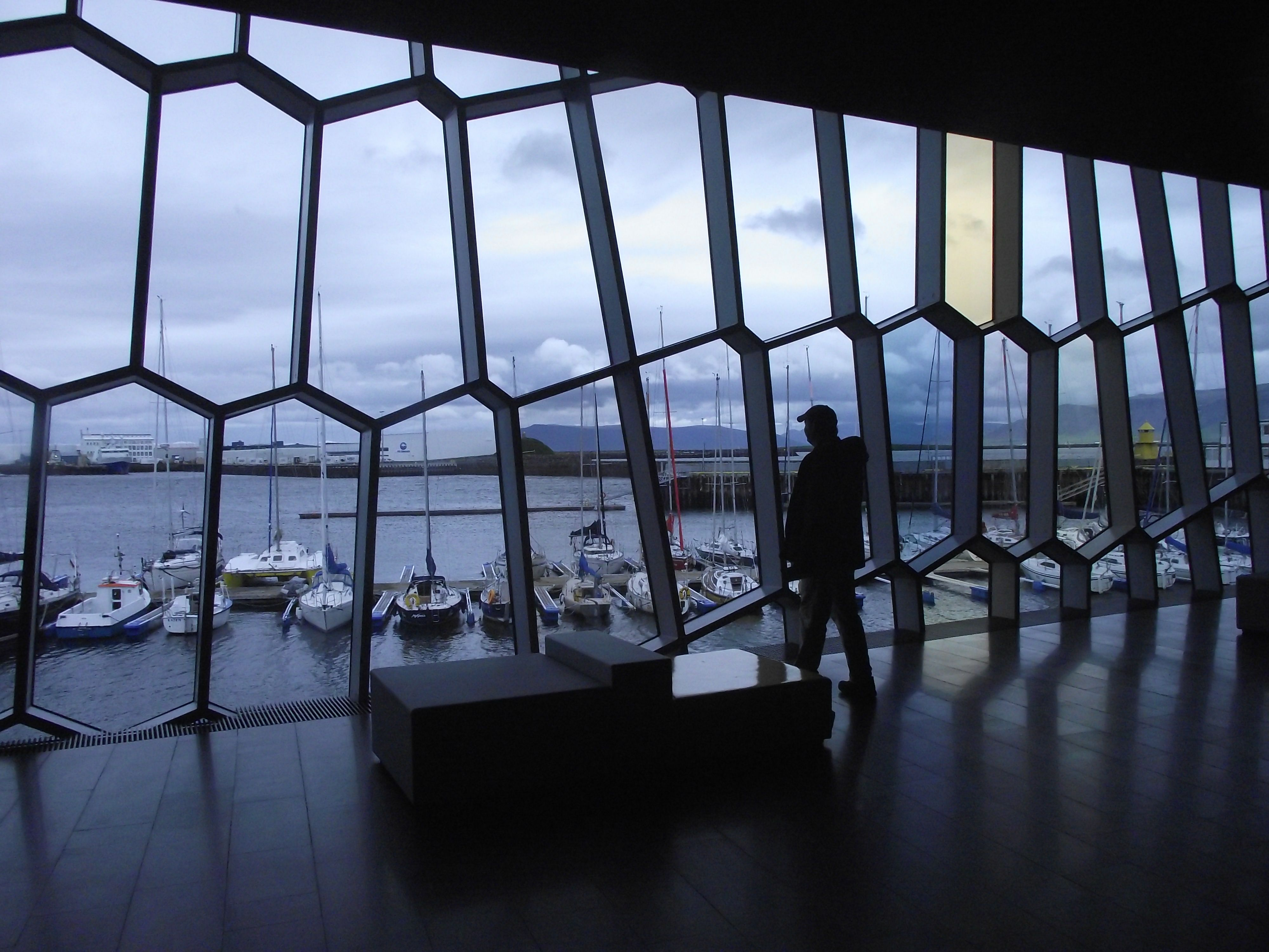 Reykjavik harbour from the Harpa concert hall photo by Maggie Wouterloot