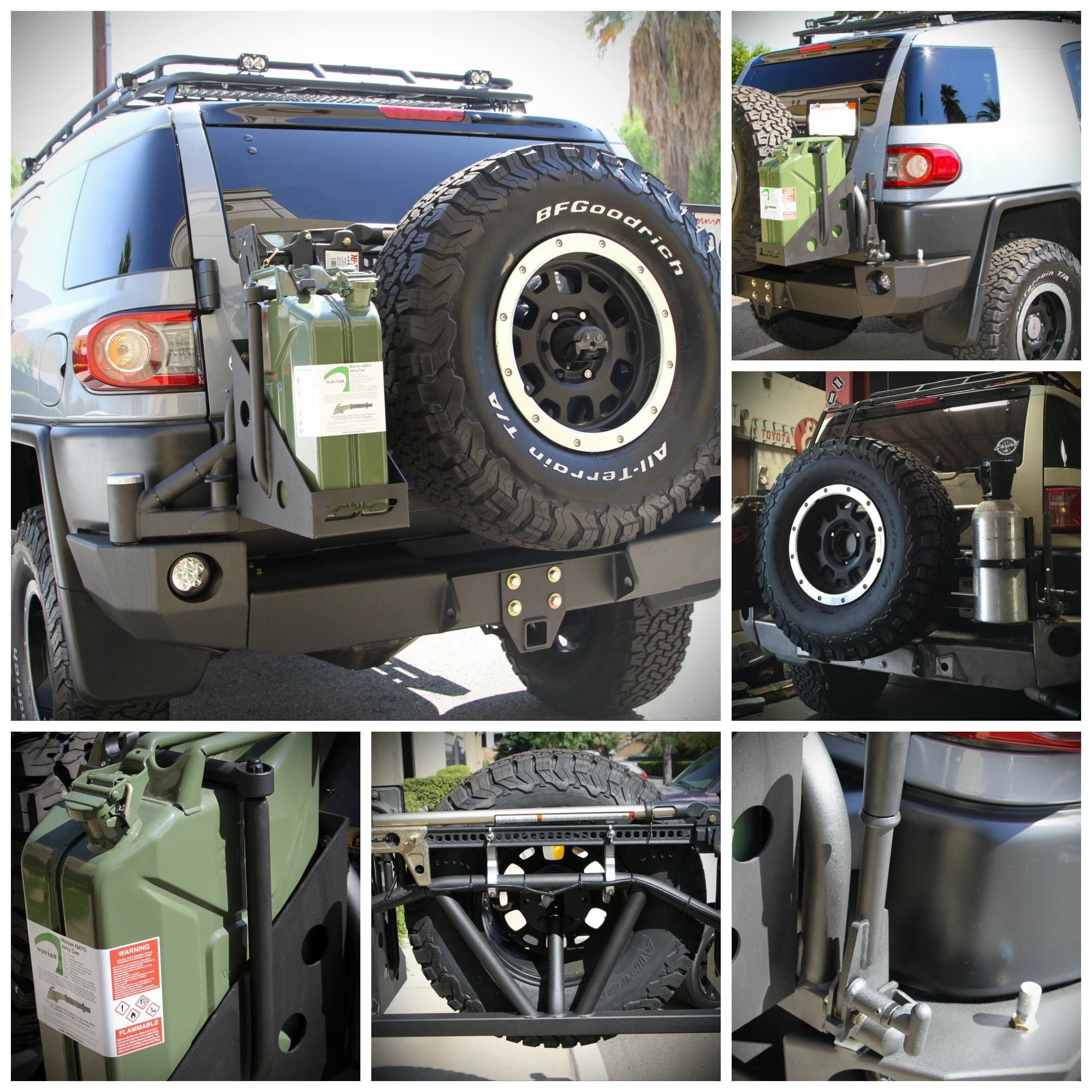Demello Offroad Fj Rear Wrap Around Bumper With Tire Carrier Vehiculo De Lujo Camionetas Maleteros