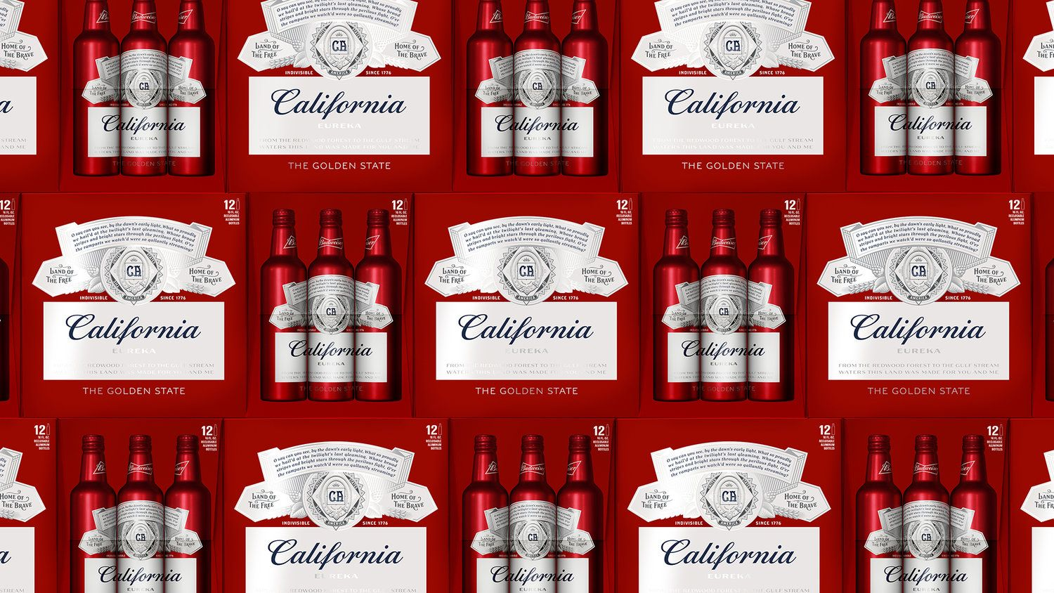 11 Budweiser Summer State Cans From Ny To Ca Budweiser Beer Design Packaging Design Inspiration