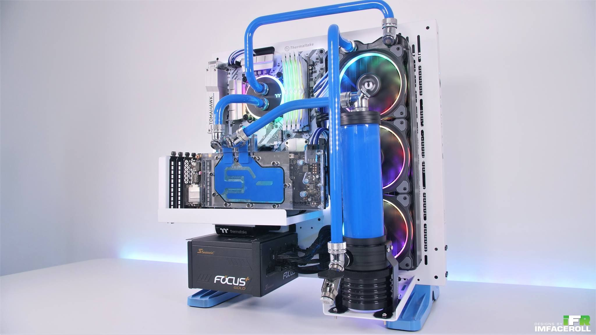Project Blue Snow Pc Build Time Lapse Video Thanks To