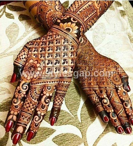 bridal henna mehndi design 2021