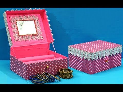 Easy Best Out Of Waste Craft Idea Cardboard Box Bangles Stand