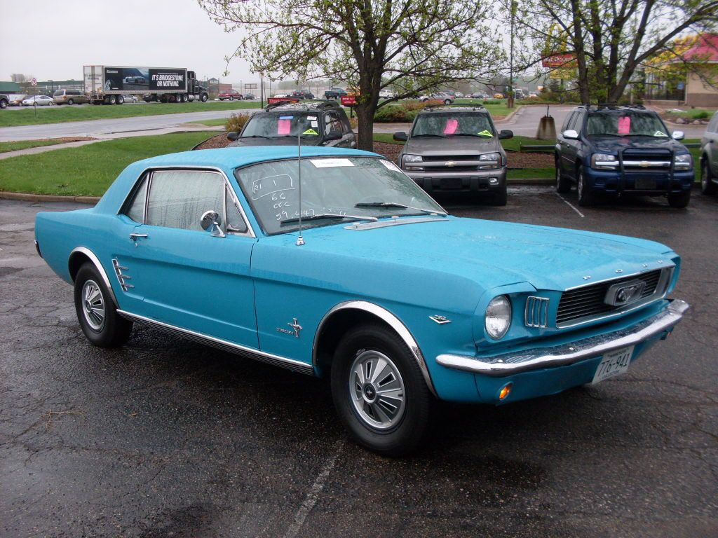 1966 Powder Blue Ford Mustang 1966 Ford Mustang V8 Blue