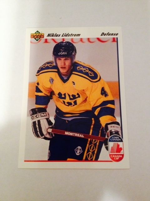 1991 92 Upper Deck Niklas Lidstrom Canada Cup Swedish National