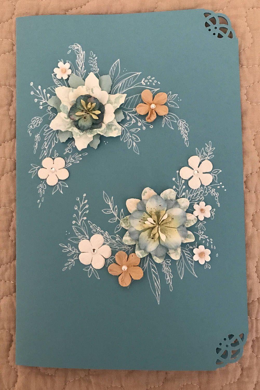 A Personal Favorite From My Etsy Https Www Paper Flower Wreathspaper Flowershand Drawnblank Cardswedding Programs Versesetsy