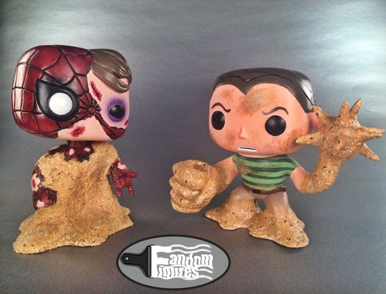 Marvel Spiderman Battle Damaged Spider Man And Sandman