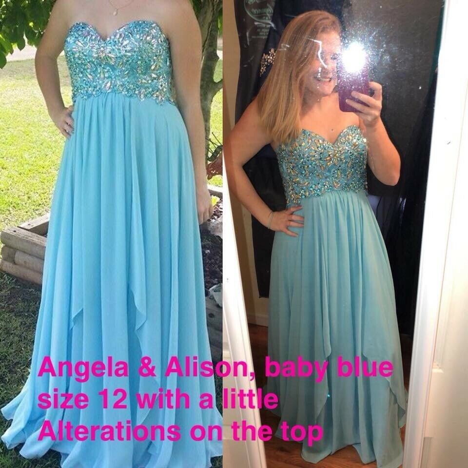 f02708e408374 Light blue prom dress size 10-12 #fashion #clothing #shoes #accessories  #womensclothing #dresses (ebay link)