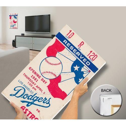 Los Angeles Dodgers 1981 Opening Day-Fernando Valenzuela First Career Start Mega Ticket