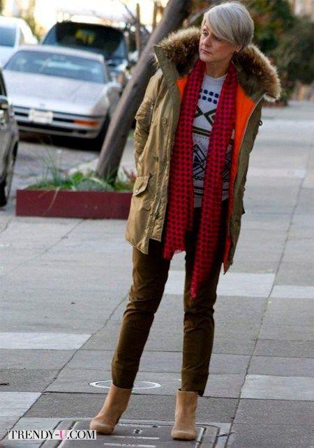 Мода после 50  как носить джинсы женщине элегантного возраста ... 7657486ddbf3a