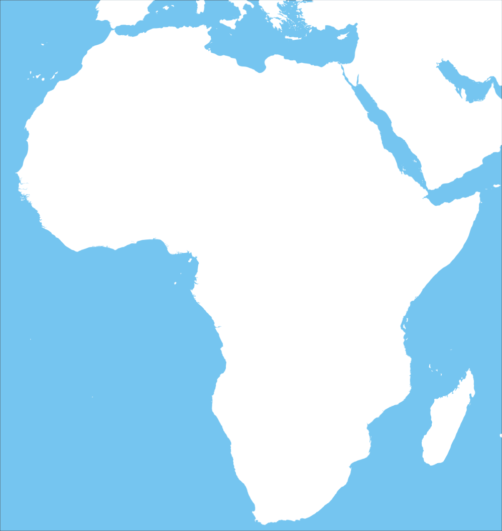 Blank Africa Map Land In White Africa Outline Africa Map World Map Africa