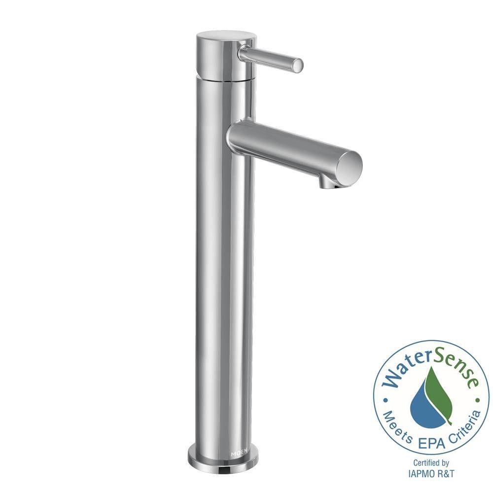 Moen Align Single Hole Single Handle Vessel Bathroom Faucet In