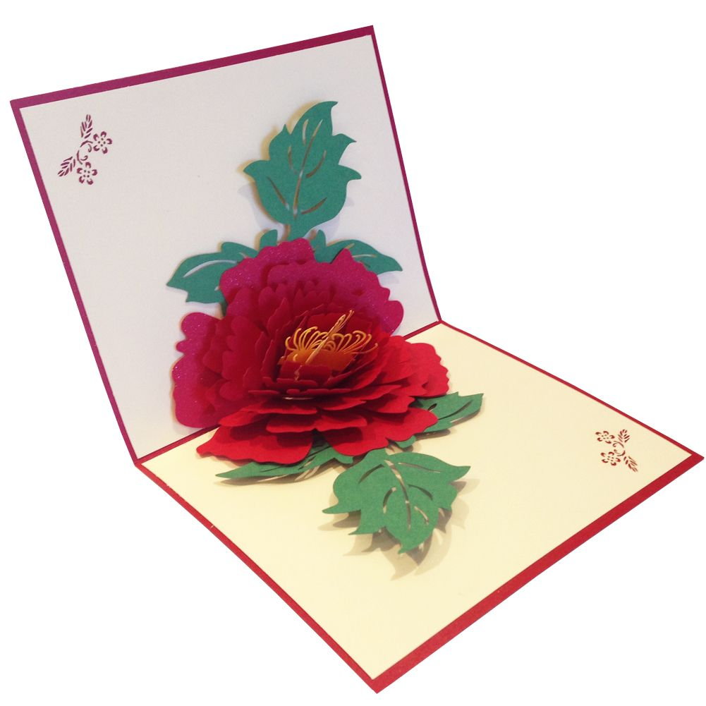 Magic 3D Pop-Up Greeting Card, Blooming Flower Greeting Card, Unique Gift Idea