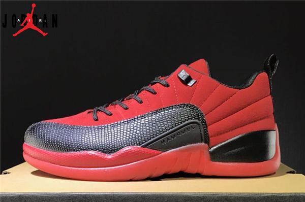 7a5e13474a2 Men's/Women's Air Jordan 12 Low Red Suede Basketball Shoes Red/Black,Jordan-Jordan  12 Shoes Sale Online