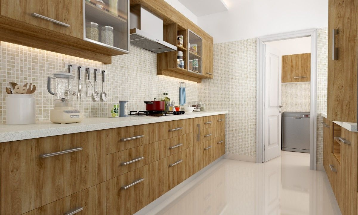 Shop for jenner parallel modular kitchen online in india for Online modular kitchen designs