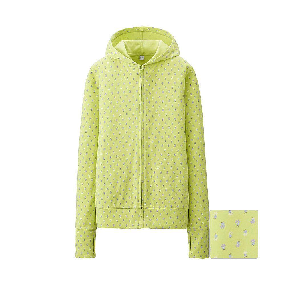 Uniqlo flannel jacket  UNIQLO Wus UV cut printed LS full zip hooded jacket  UNIQLO