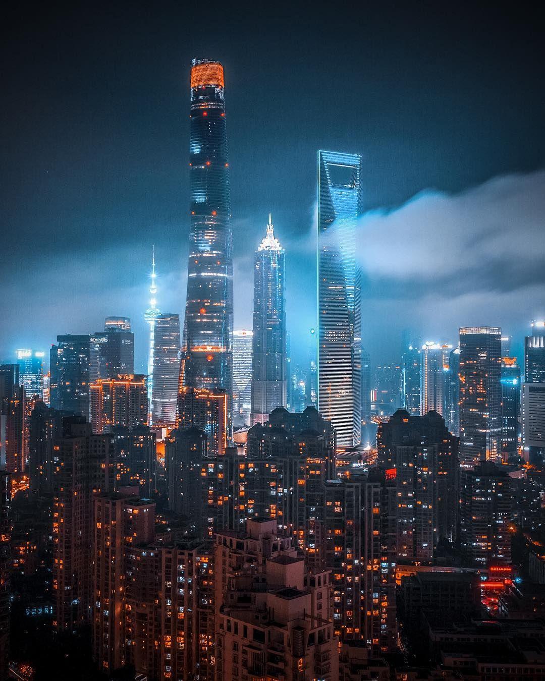 Shanghai China By Aka Swaggy On Ig City Aesthetic Shanghai Skyline Travel