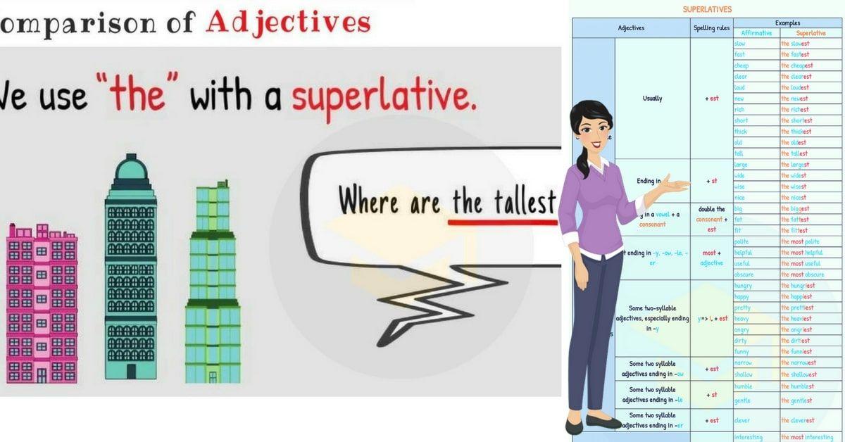 superlative adjectives learn english pinterest learn english