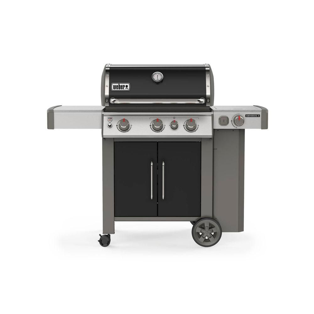 Weber Genesis Ii E 335 3 Burner Propane Gas Grill In Black With Built In Thermometer And Side Burner Propane Gas Grill Best Gas Grills Grilling
