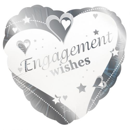 Engagement wishes standard foil balloon. http://www.wfdenny.co.uk/p/engagement-wishes-balloon/5686/