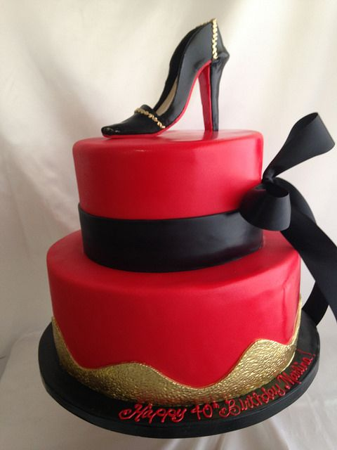 Red And Black Stiletto Cake 2470 In 2019 Women S