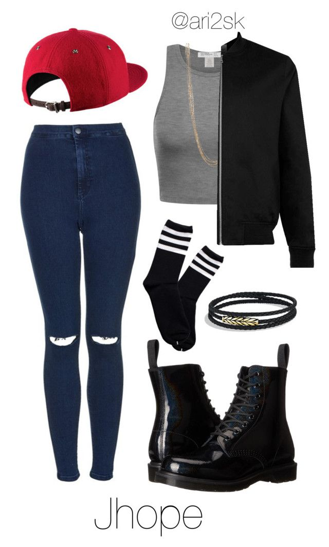 """""""Boy in love- Jhope 💜"""" by ari2sk on Polyvore featuring Natasha Accessories, Topman, Topshop, Dr. Martens and David Yurman"""