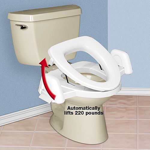 Rising Toilet Seat Helps You Stand Without Caregiver