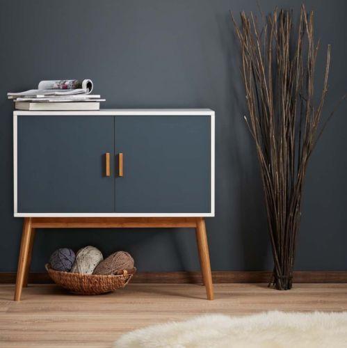 Wooden Console Table Sideboard Cupboard Hallway Living Room Retro Cabinet Buffet Retro Furniture Retro Cabinet Furniture
