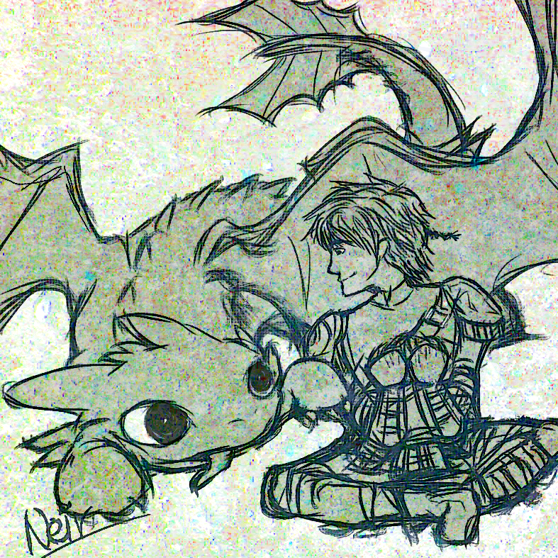 Quickie: HTTYD2 Hiccup and Toothless by neir-2-you.deviantart.com on @deviantART